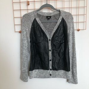 Mossimo Faux Leather Cardigan